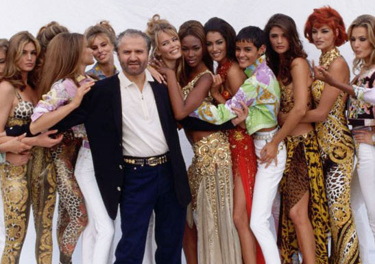 Gianni Versace Linda Evangelista super models